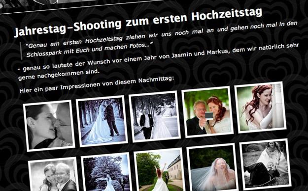 Jahrestag-Shooting zum ersten Hochzeitstag