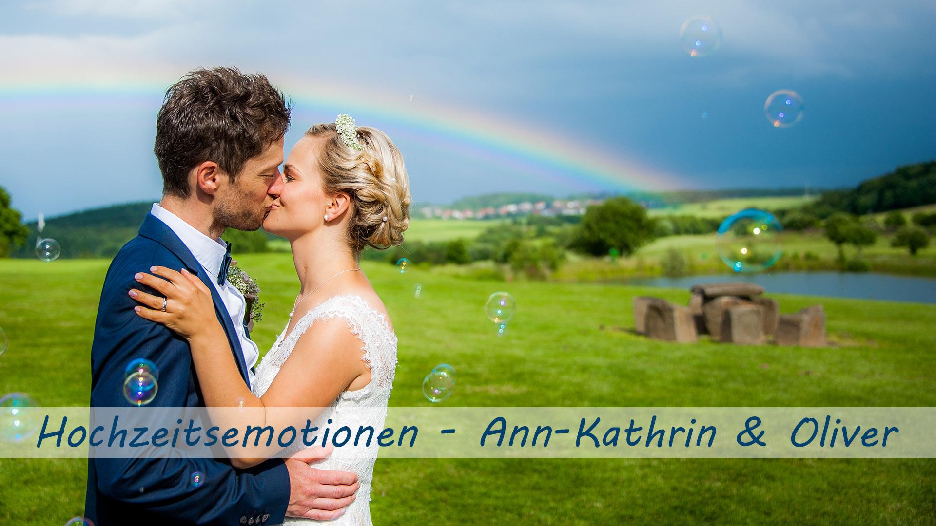 Wenn Regen gemeldet ist und der Regenbogen leuchtet – die echten Hochzeitsemotionen von Ann-Kathrin und Oliver