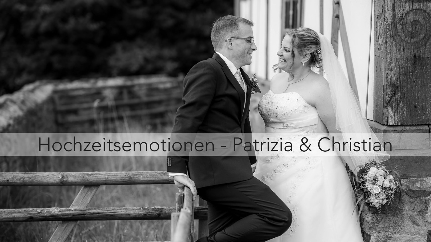 Die Hochzeitsemotionen von Patrizia und Christian im Hessenpark und auf der Saalburg
