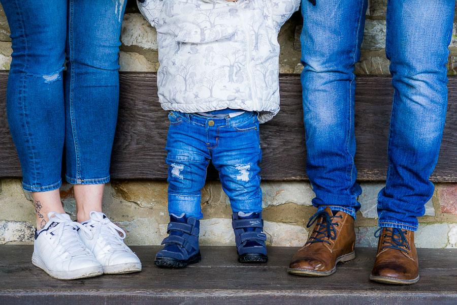 Mit einem – nein zwei – Babys in der Saalburg im Winter